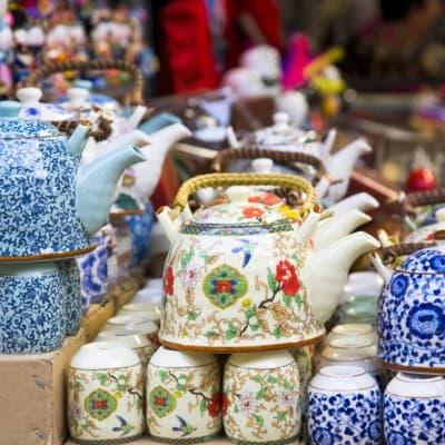 Dégustation de thé dans une maison de thé traditionnelle (Shanghai)