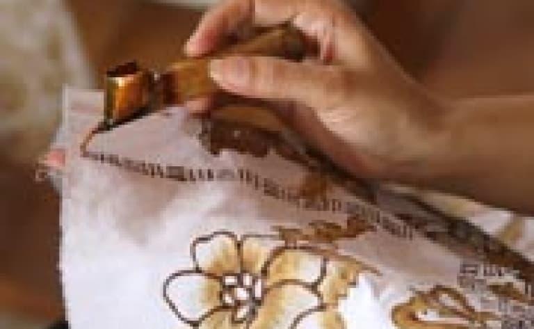 Visite d'une fabrique de batiks