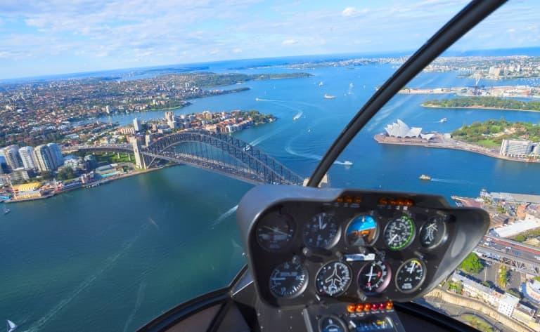Sydney et ses plages vues du ciel, en hydravion