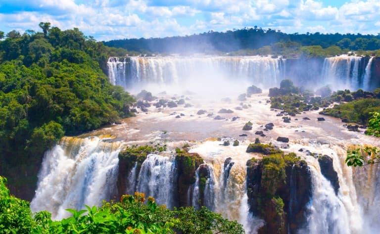 Les chutes, coté brésilien