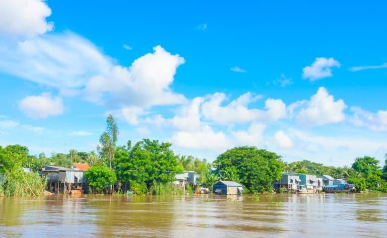 La vie locale dans le delta du Mékong